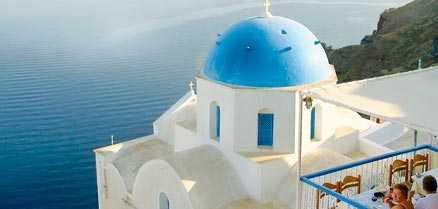 Utsikt från Ola på Santorini.