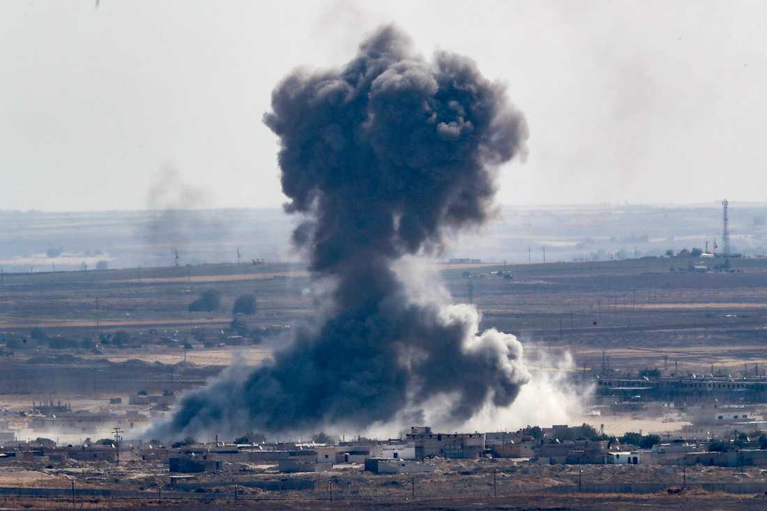 Bombning i Ras al-Ain i Syrien, 12 oktober.