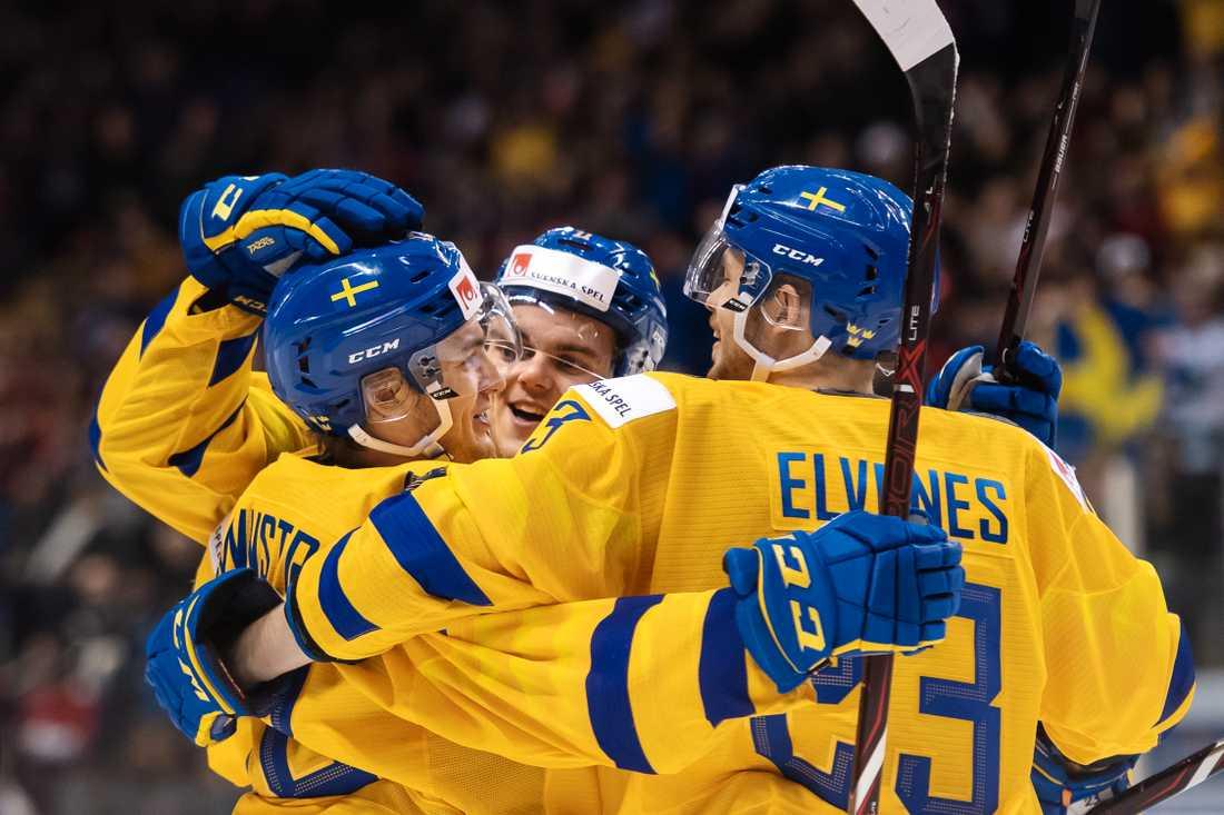 JVM i hockey. Ikväll mötet Sverige Schweiz i junior-vm.