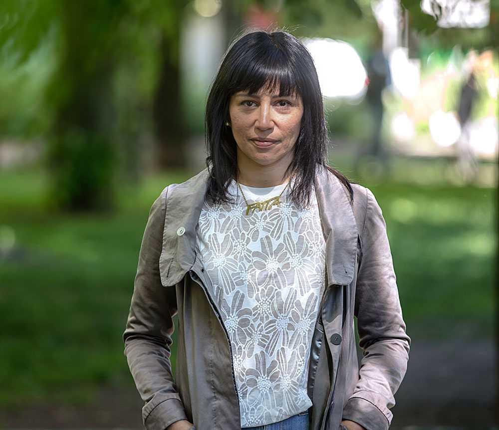 Rossana Dinamarca (V) är en av de kvinnor som skrivit på uppropet.