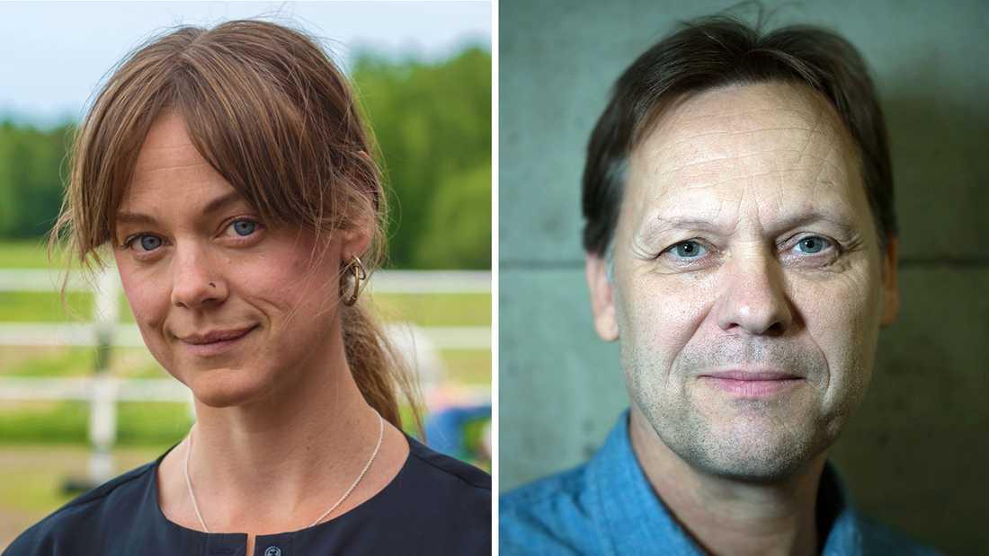 """Annamaria Fredholm och Mikael """"Äpplet"""" Appelgren."""