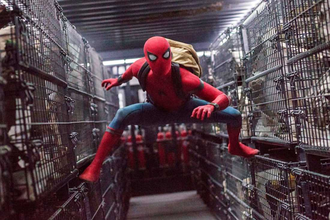 Tom Holland som Spiderman.