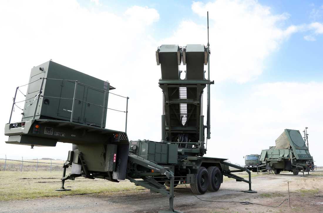 Det amerikanska luftvärnssystemet Patriot används bland annat av länder som Japan. Arkivbild.