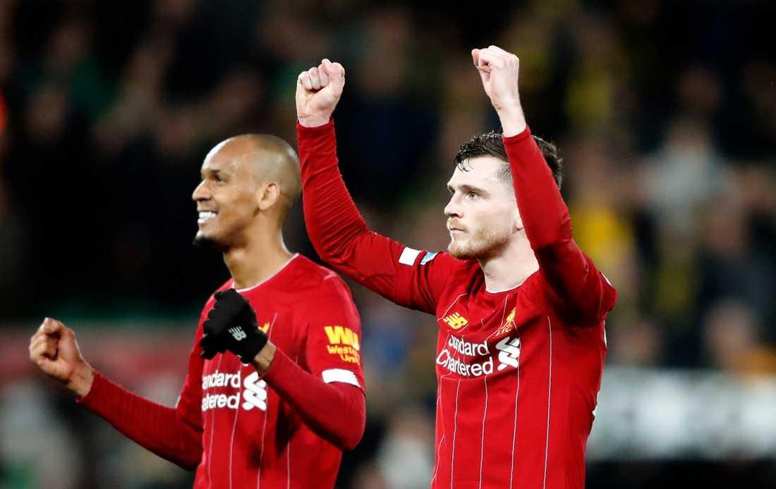 Liverpool tog sin 17:e raka ligaseger borta mot Norwich.