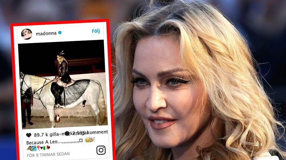 madonna födelsedag Madonna fyller 59 år och firar med att rida häst | Aftonbladet madonna födelsedag