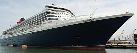Queen Mary II är ett av världens största kryssningsfartyg.