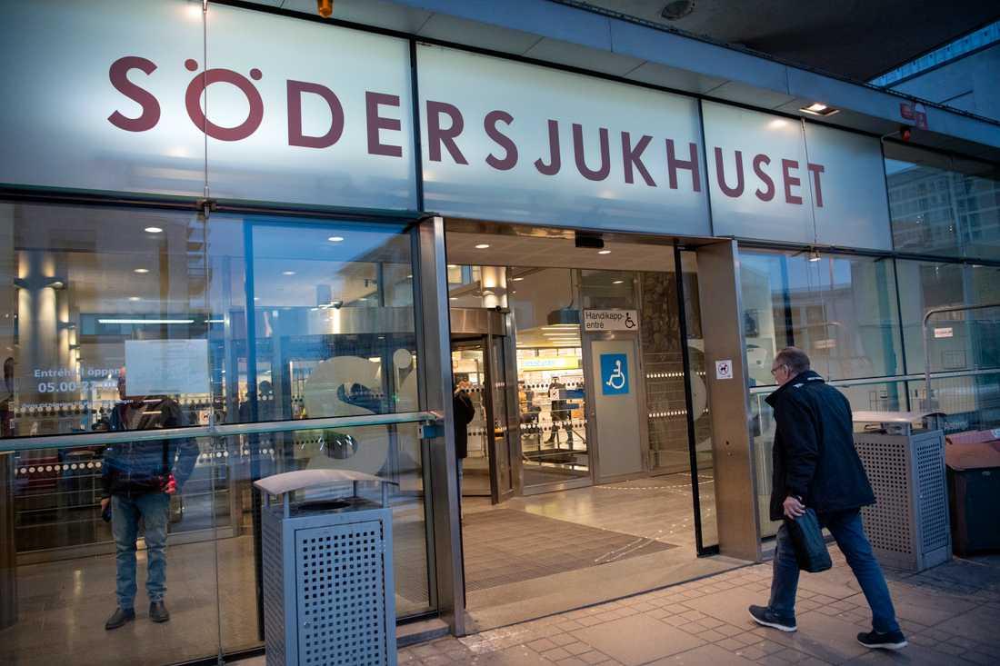 Södersjukhuset i Stockholm har gått upp stabsläge. Arkivbild