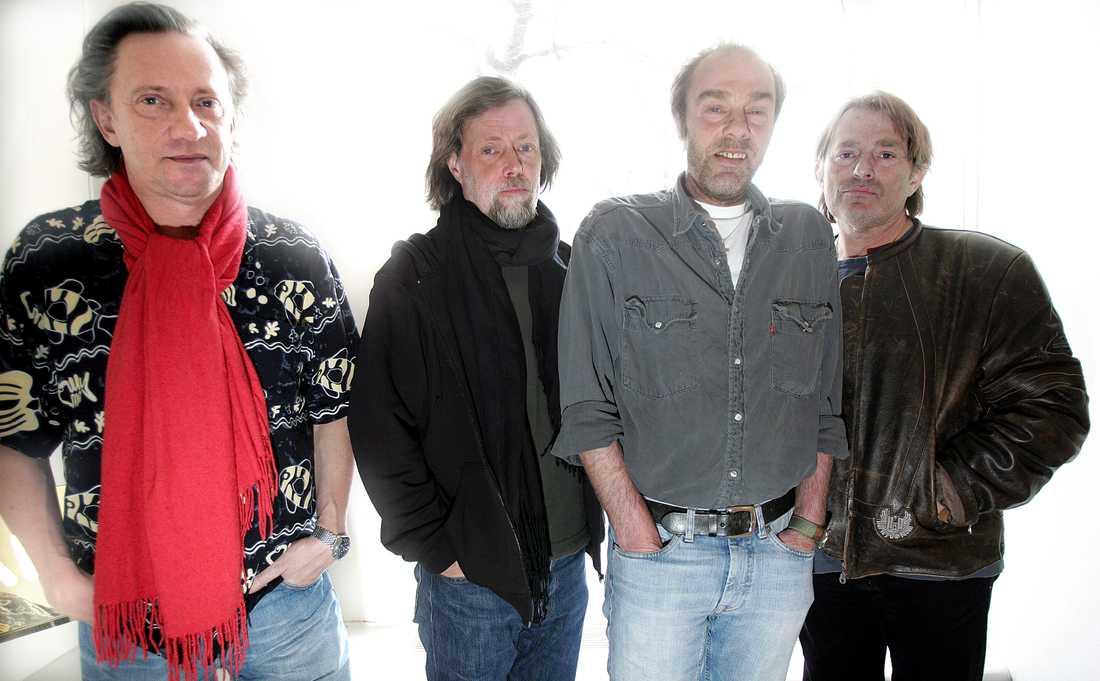Grymlings: Mats Ronander, Göran Lagerberg, Magnus Lindberg och Mikael Rickfors, fotograferade för Aftonbladet 2005.