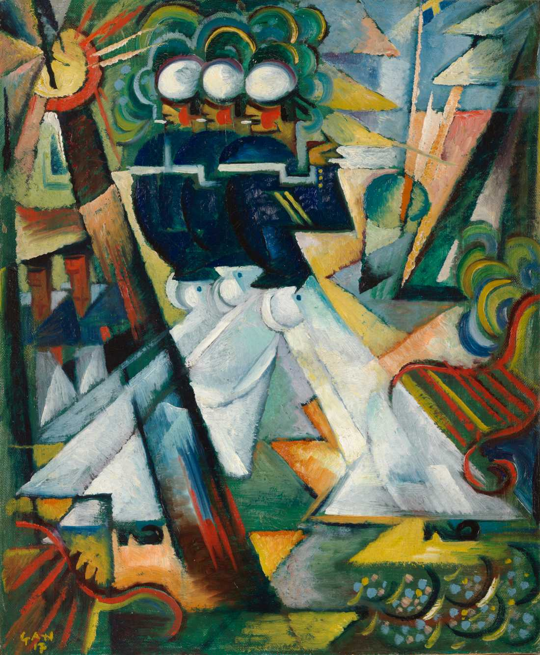 """Söndagspromenad"", 1917, olja."