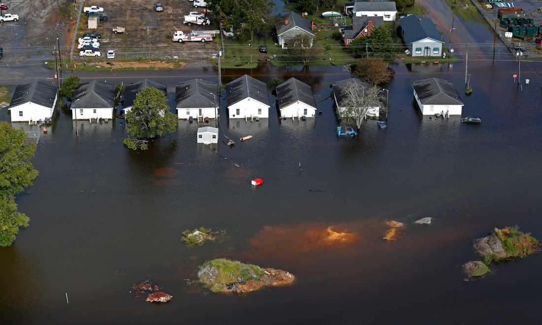 Översvämningar i South Carolina efter orkanen Florence.