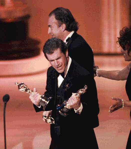 """Och med sina två Oscar för """"Braveheart"""" 1996."""