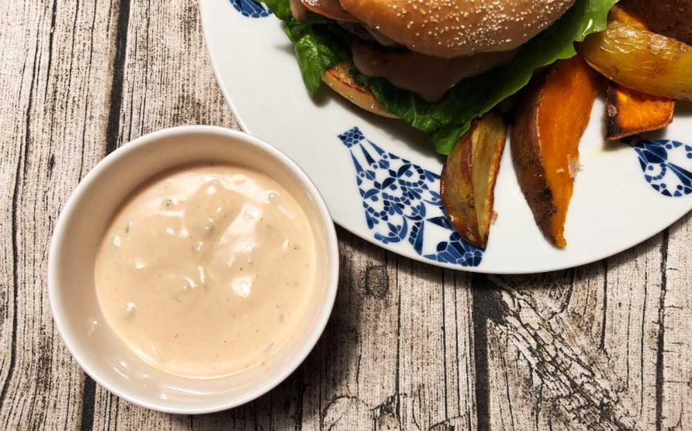 hamburgerdressing creme fraiche
