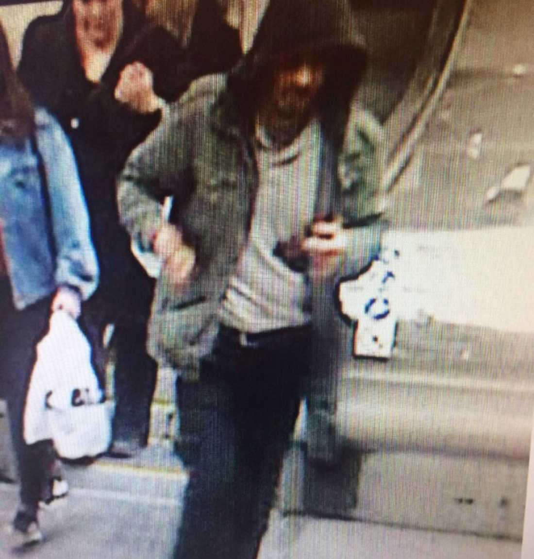 This photo released by Swedish police shows a person that the investigators want for questioning.