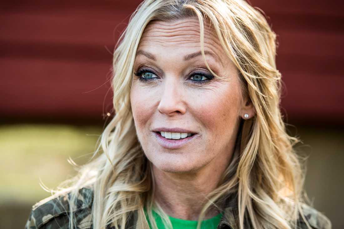 """Linda Lindorff, programledare för """"Bonde söker fru""""."""
