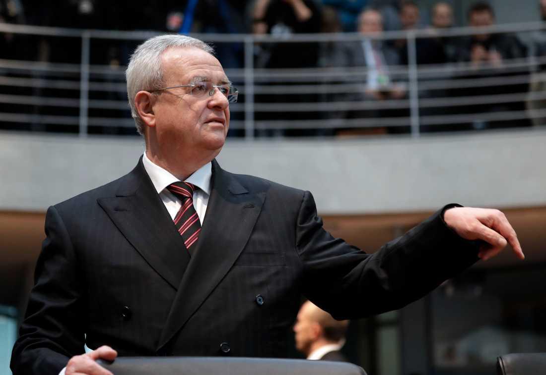 Förre Volkswagenchefen Martin Winterkorn under en utfrågning i den tyska förbundsdagen förra året. Arkivbild.