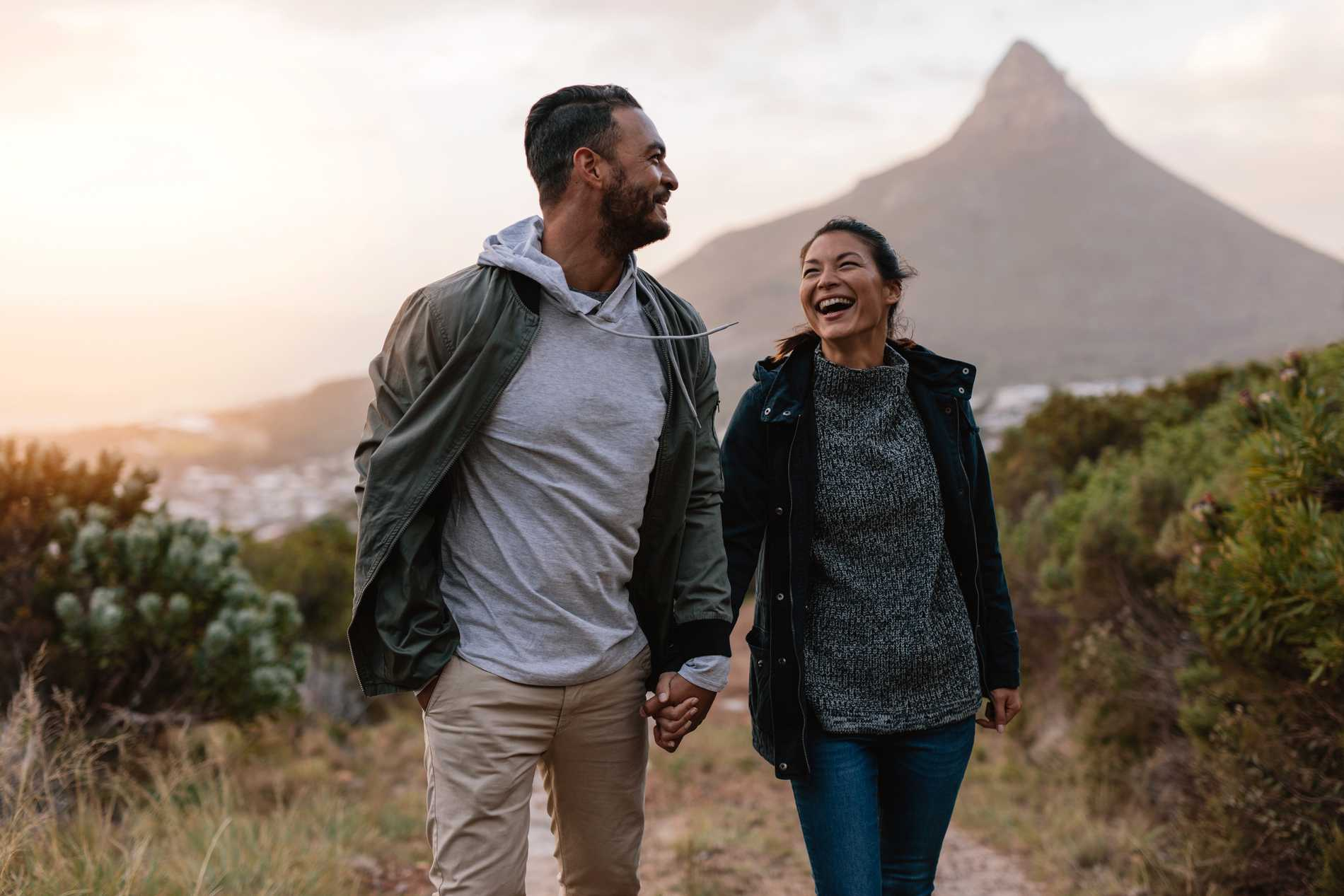 Många tycker att det är romantiskt med vandring.