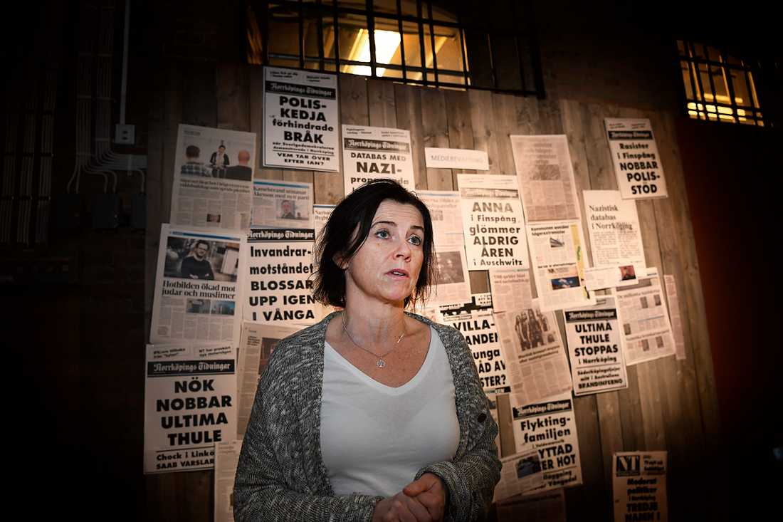 """""""Jag har ett ansvar för arbetsmiljön"""", säger Maria Modig om beslutet att hålla stängt en dag då vaktbolaget inte kunde ordna fram en vakt."""