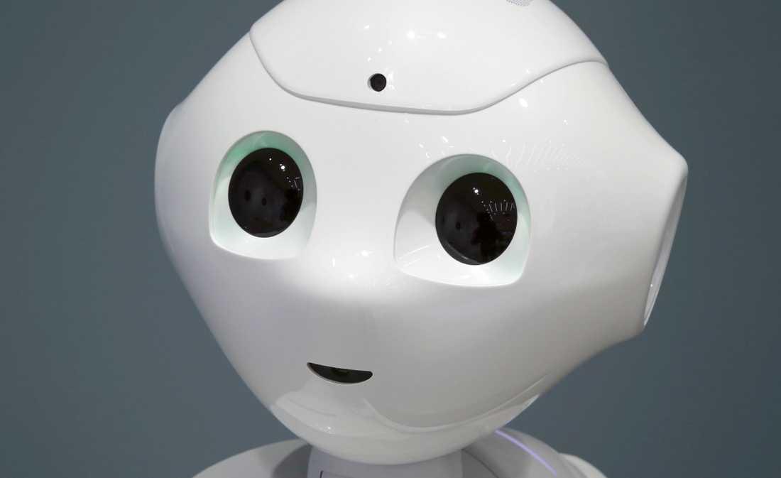 Den söta lilla roboten med stora ögon som kan blinka.