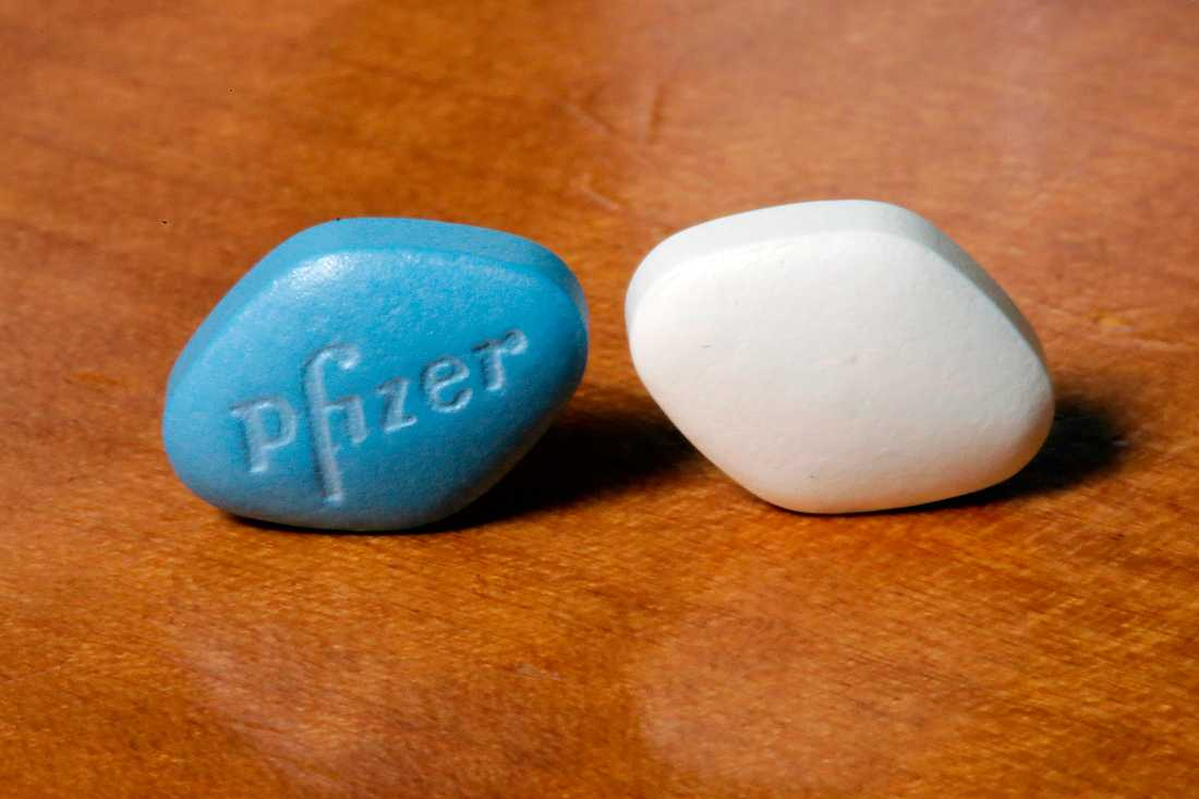 Viagra och Sildenafil innehåller båda PDE5-hämmare. Arkivbild.