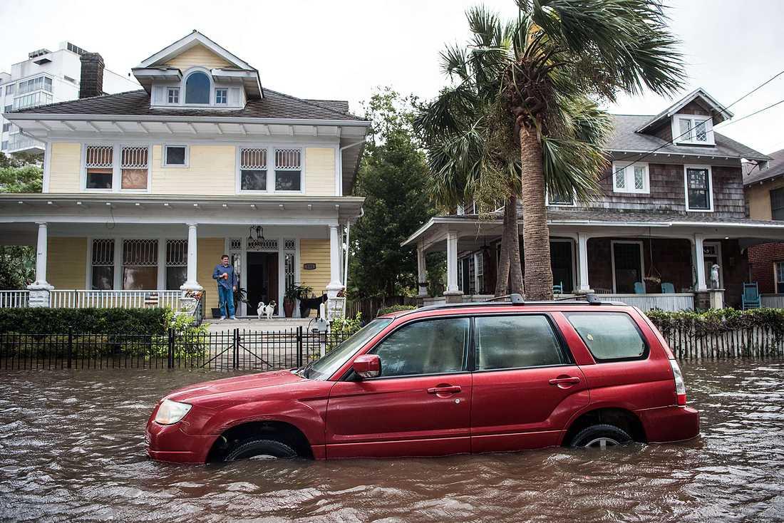 Bilderna visar förödelsen i Florida efter stormen Irma. Jacksonville, Florida