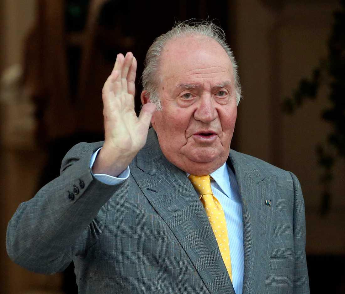 Juan Carlos abdikerade 2014. Bild från 2018.
