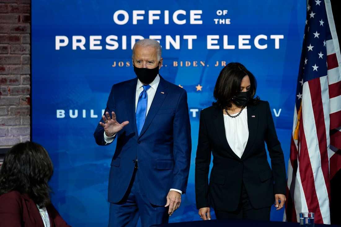 Joe Biden och Kamala Harris på en bild tagen tidigare i veckan.