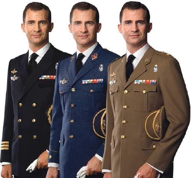 Spanske kronprinsen Felipe är expert på att använda en och samma fotomin. Eller har man klippt in samma huvud på varje ny uniformsbild?