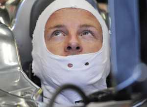 MOTORSTOPP: Jenson Button.