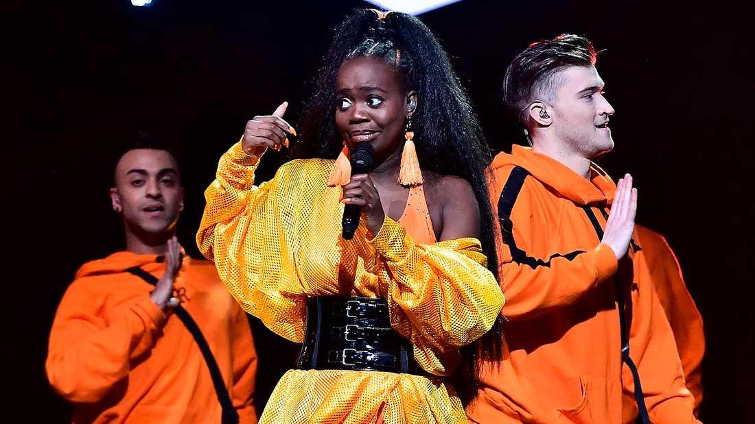 Renaida i Melodifestivalen 2018.