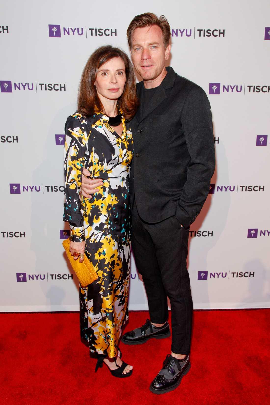 Ewan Mcgregor tillsammans med sin ex-fru Eve Mavrakis