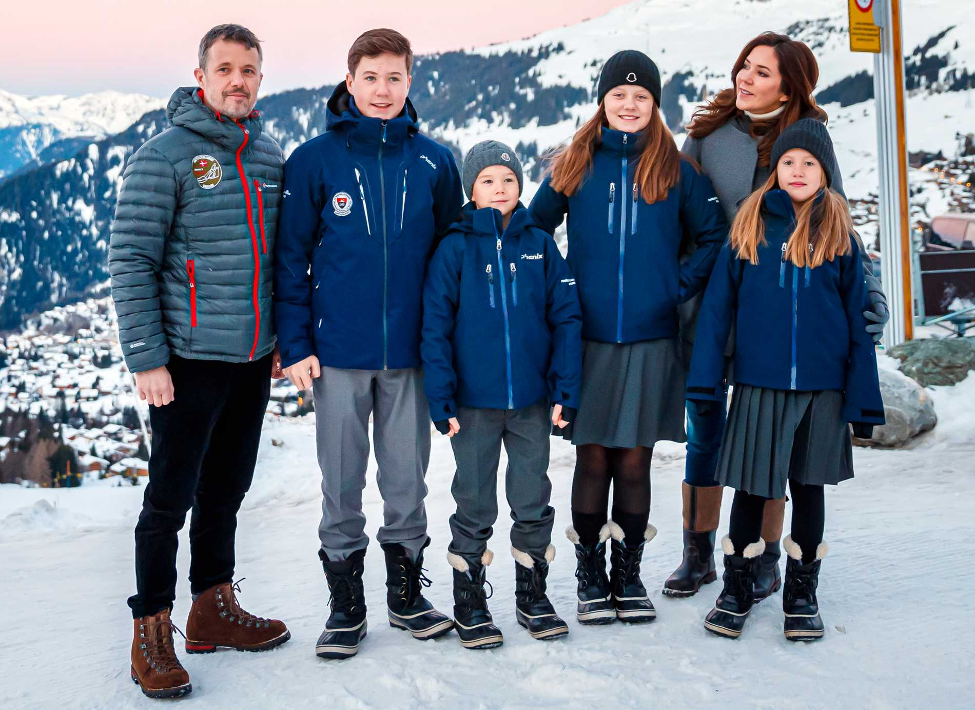 Familjen i Schweiz.