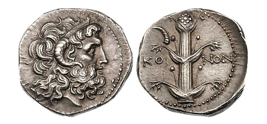 Ett par av mynten från skatten.