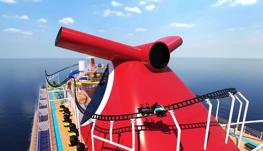 Bolt Ultimate Sea Coaster kommer att locka fartglada barn och vuxna till Carnival Cruise Lines skepp Mardi Gras.