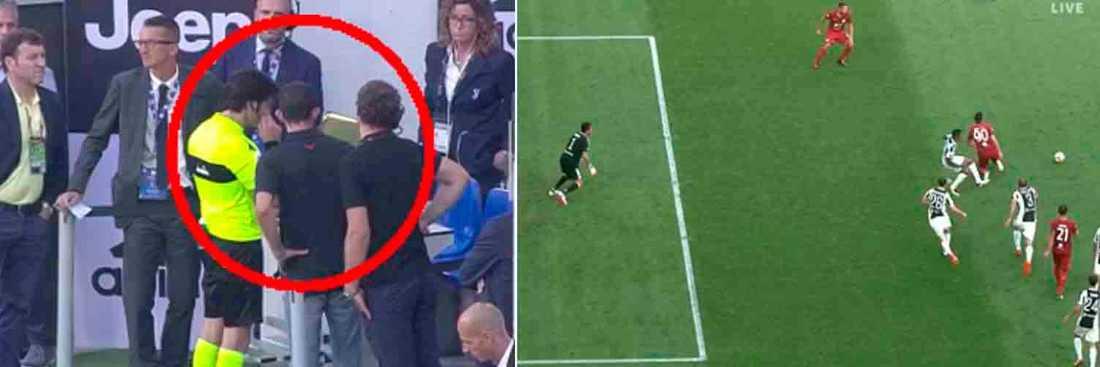 Videogranskning under Juventus match.