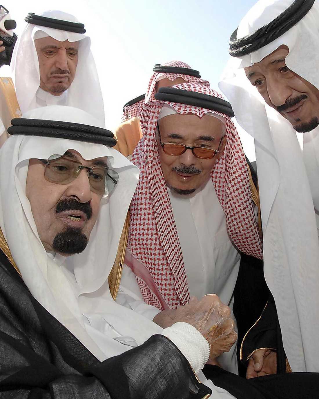 Kung Abdullah och familj.