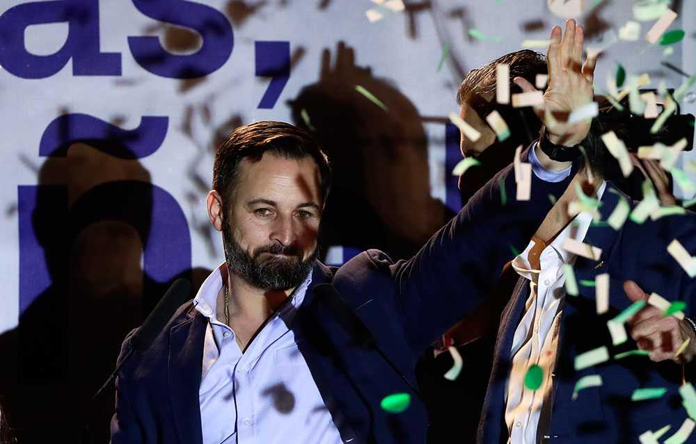 Vox-ledaren Santiago Abascal.
