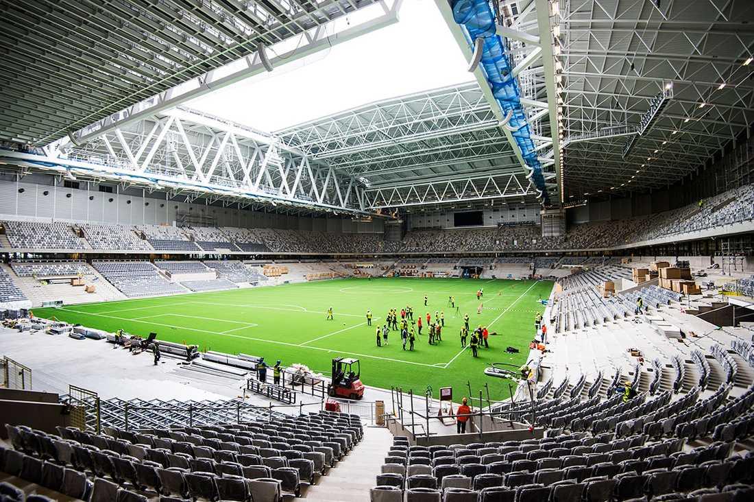 NU Stockholms senaste jättebygge står klart. Men invigningen är först senare i sommar.