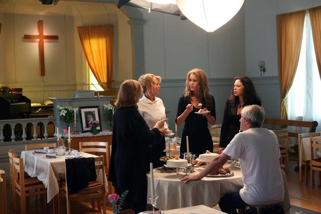 En scen från Vångas Missionshus.