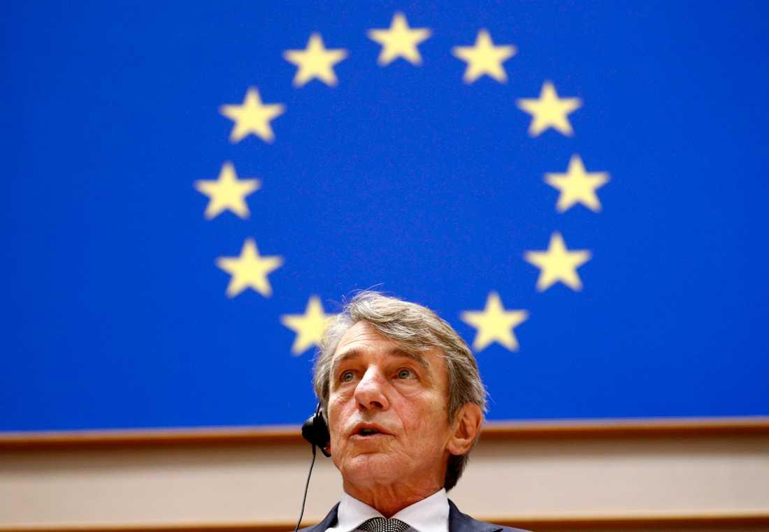 EU-parlamentets talman David Sassoli. Arkivfoto.