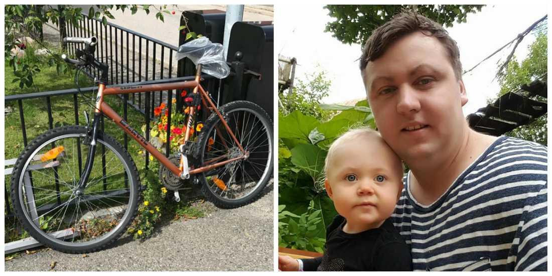 Johannes cykel blev stulen – och ersatt med en annan