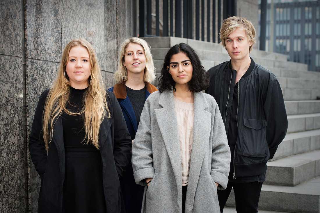 Lisa Adolfsson, Sandra Fogelberg, Niklas Wesslander och Lara Siadat.
