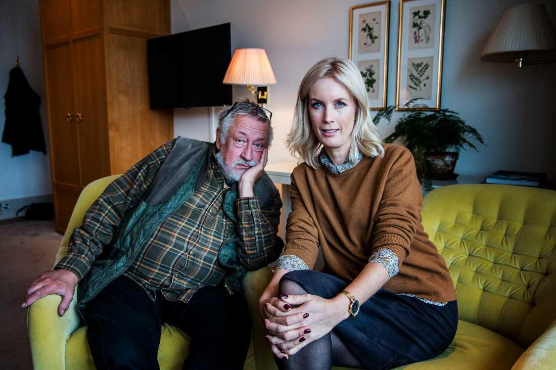 Leif GW Persson och Jenny Strömstedt.