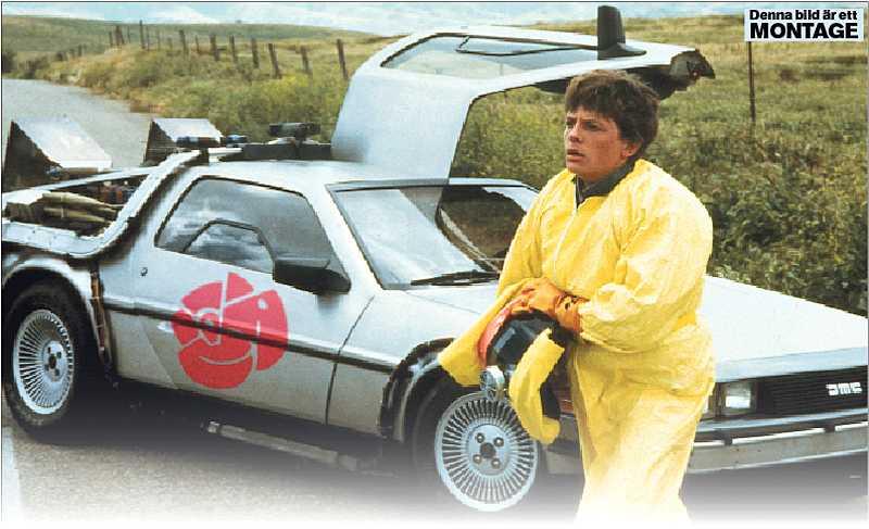 """Michael J Fox i filmen """"Tillbaka till framtiden 2."""""""