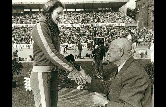 Linda Haglund blev utsedd till årets idrottkvinna 1979.
