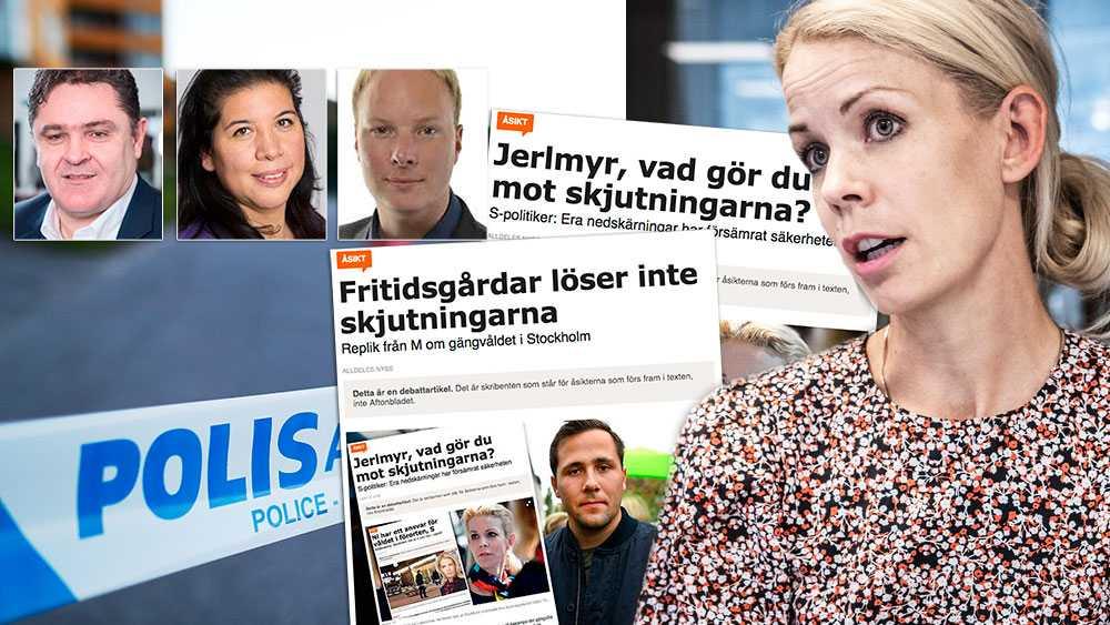 """I stället för att ta den oro som många av oss som bor i så kallade """"utsatta områden"""" känner på allvar, skickade hon fram Benjamin Dousa att svara. Att som ansvarig M- politiker skriva några rader själv om vad hon tycker om Stockholms framtid, verkade övermäktigt för König Jerlmyr, skriver debattörerna."""