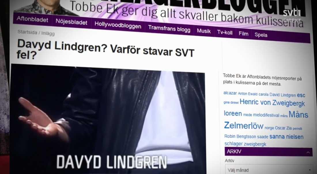 """Kanalen skojade om bokstaven """"Y""""."""