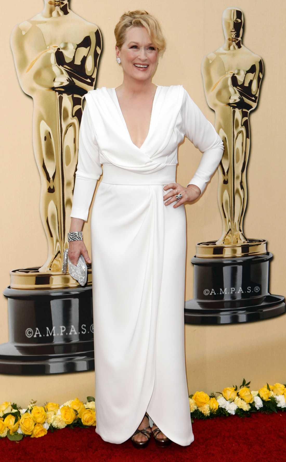 Meryl Streep i klänning skapad av designern Chris March.