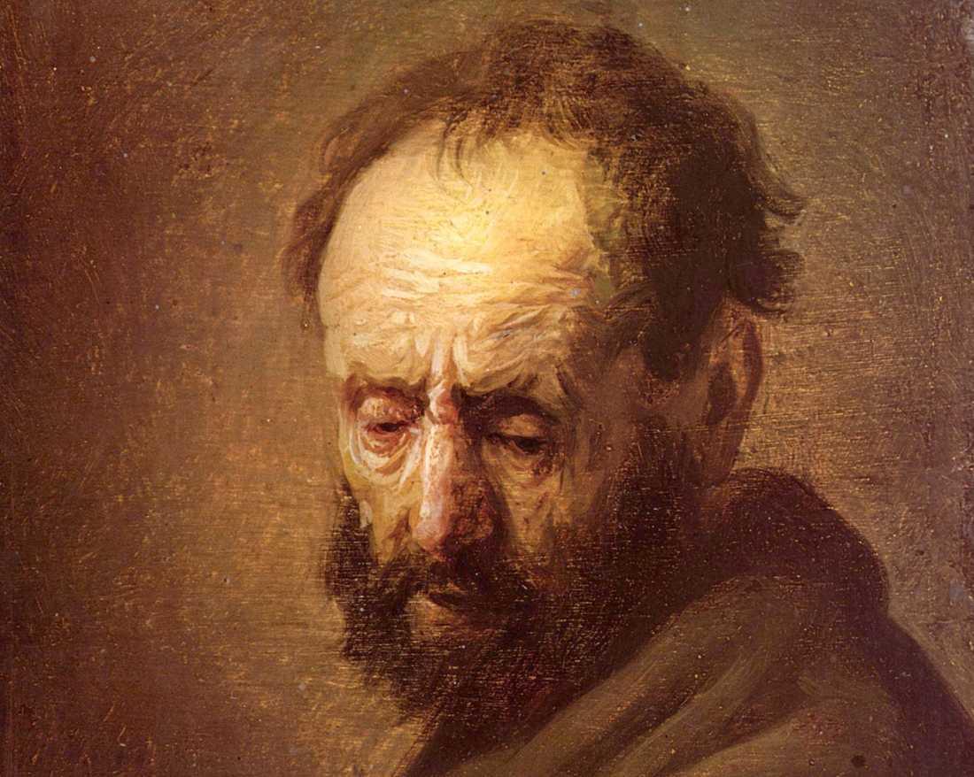 """""""Porträtt av en skäggig man"""" kan vara en äkta Rembrandt. Arkivbild."""