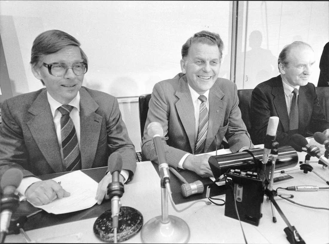 Thorbjörn Fälldin,  (c) tillsammans med Ola Ullsten och Rolf Wirtèn.