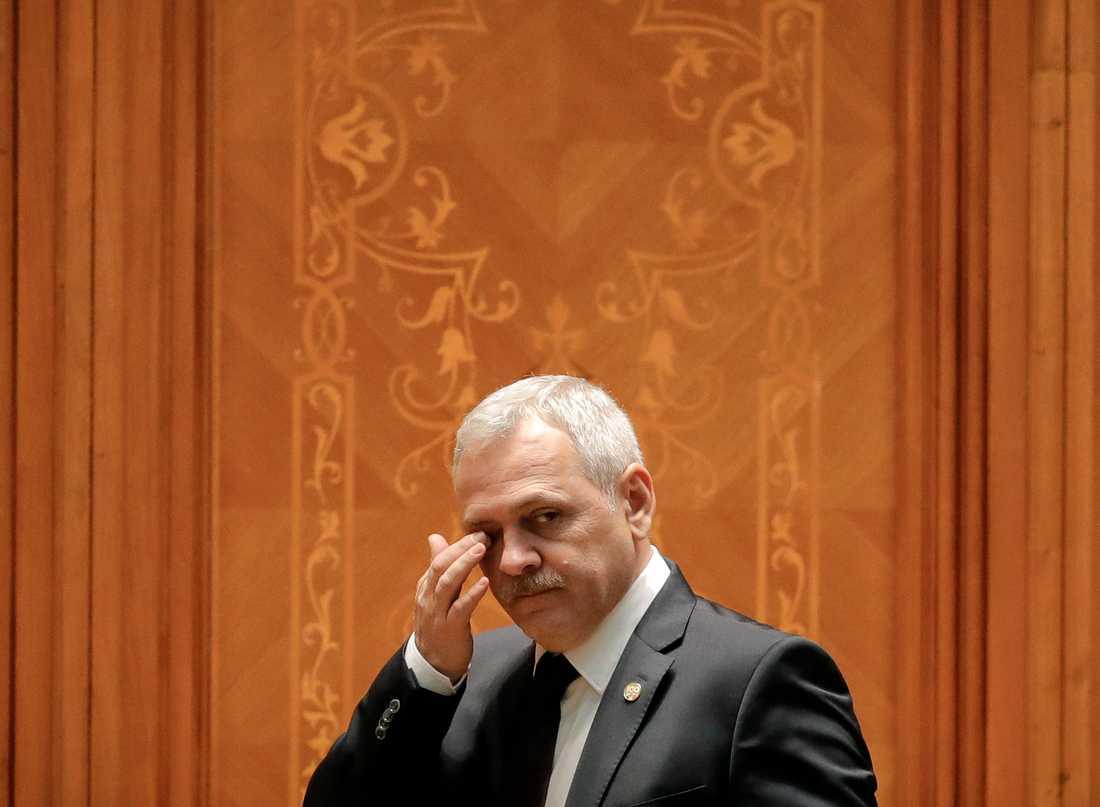 Liviu Dragnea, ledare för Rumäniens socialdemokratiska regeringsparti PSD:s, är en av de toppolitiker som skulle kunna tjäna på det föreslagna dekretet. Arkivbild.